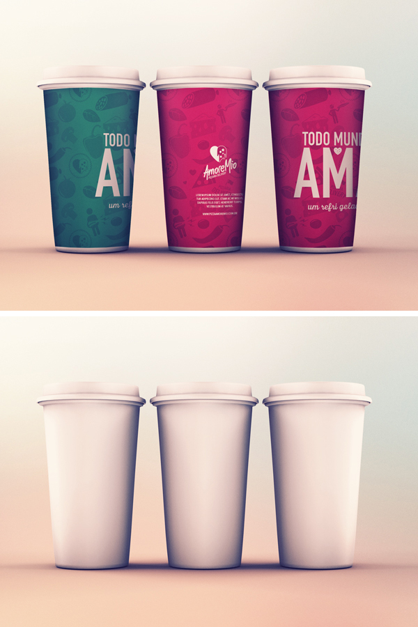 Cups MockUp PSD  GraphicBurger