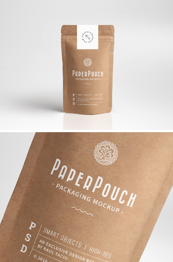 New users enjoy 60% off. Paper Pouch Packaging Mockup Graphicburger