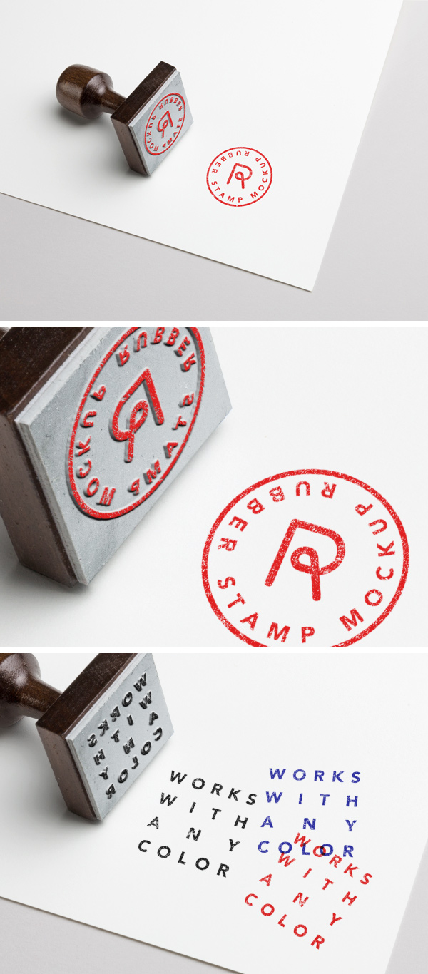 8 clean business card mockups. Rubber Stamp Psd Mockup 3 Graphicburger