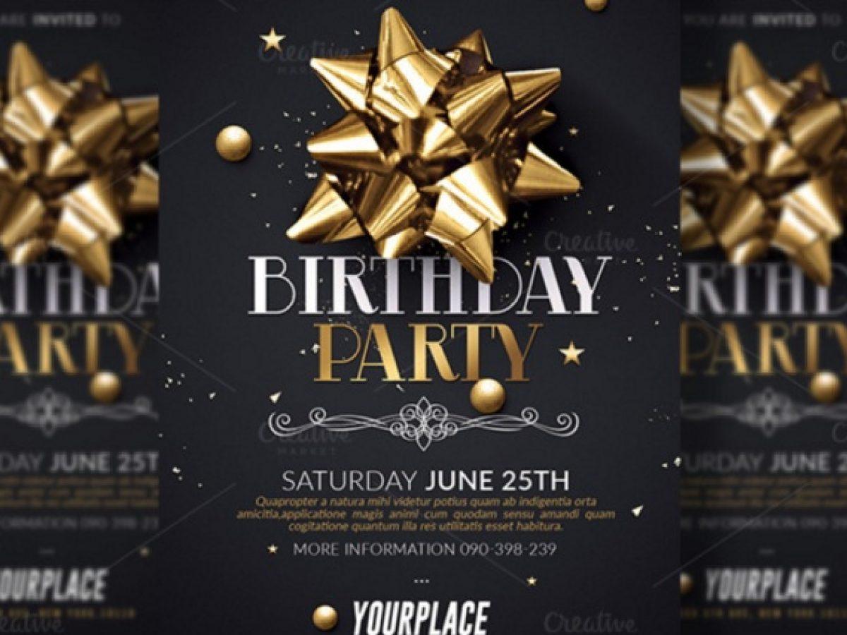 20 birthday invitation template psd