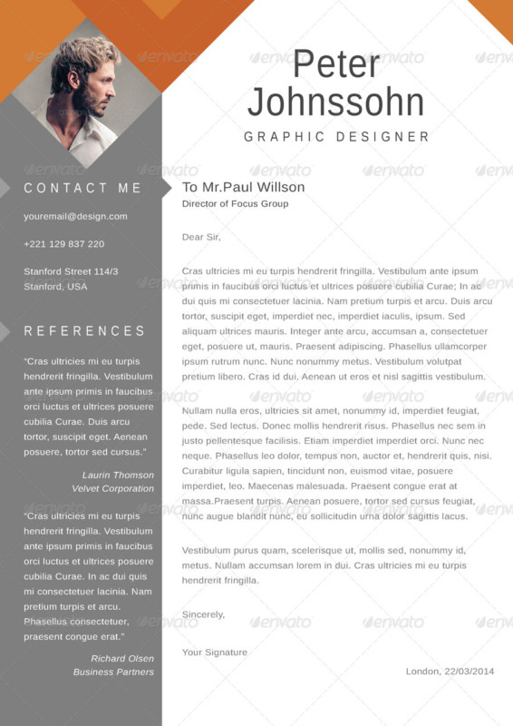 20 Resume Cover Letter Template Word EPS Ai and PSD Format  Graphic Cloud