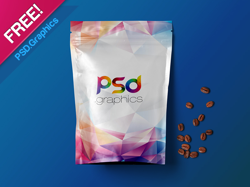 There are two standing pouches and one laying on. 11 Free Foil Packaging Mockup Psd For Branding Graphic Cloud