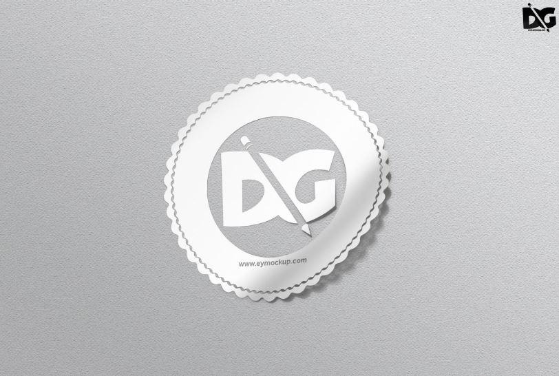 Sticker on wall mockup free free mockups. 47 Free Sticker Mockup Psd Best Templates 2021 Graphic Cloud