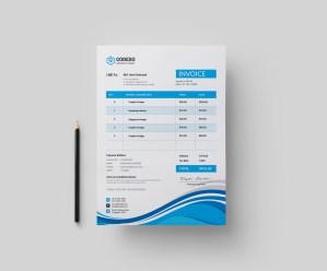 Hibana Stylish Corporate Invoice Template