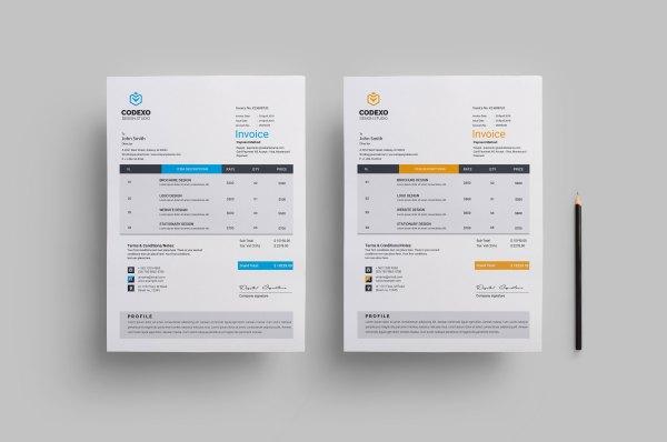 Stylish Business Invoice Design