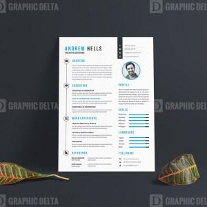 Stylish Vector Resume CV Design