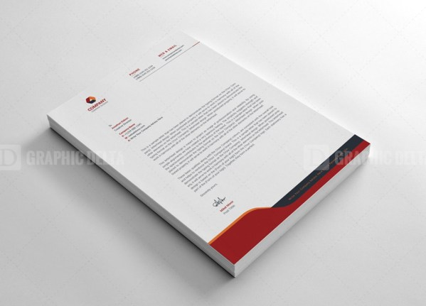 Corporation Letterhead Design Template