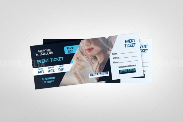 Festival Event Ticket Template