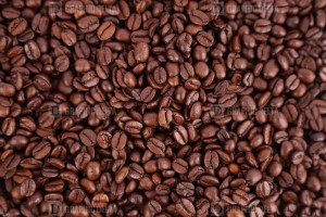 Aromatic roasted coffee beans