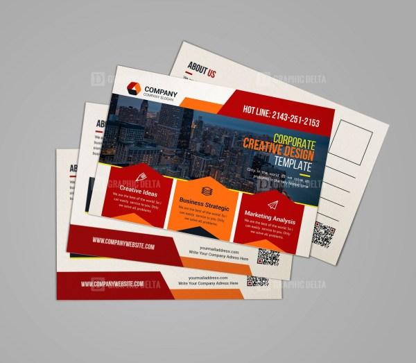 Print Ready Postcard Template