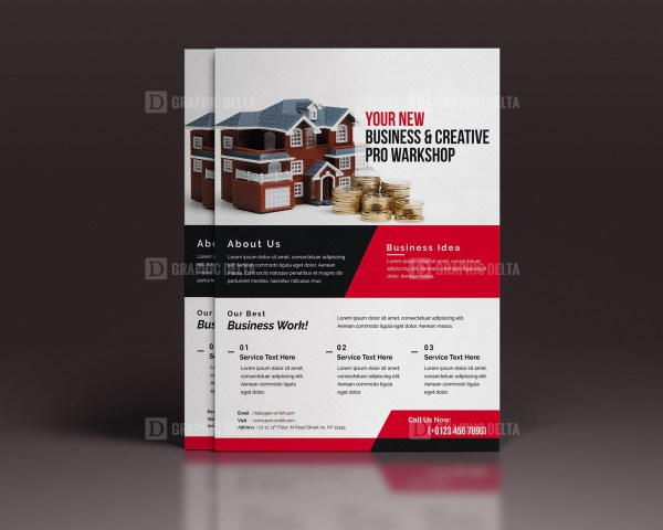 PSD Real Estate Flyer Template