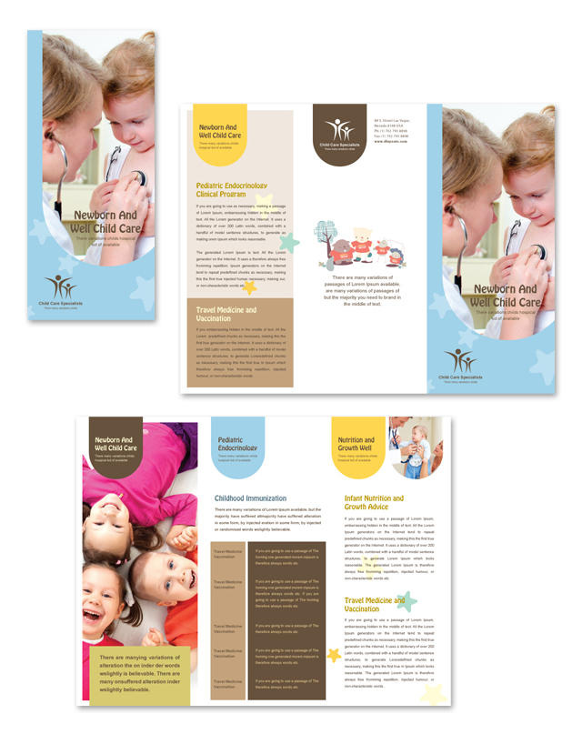 Child Care Specialists Tri Fold Brochure Template
