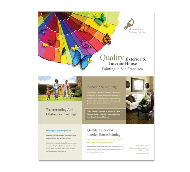 House Painting Contractor Flyer Template DLayouts