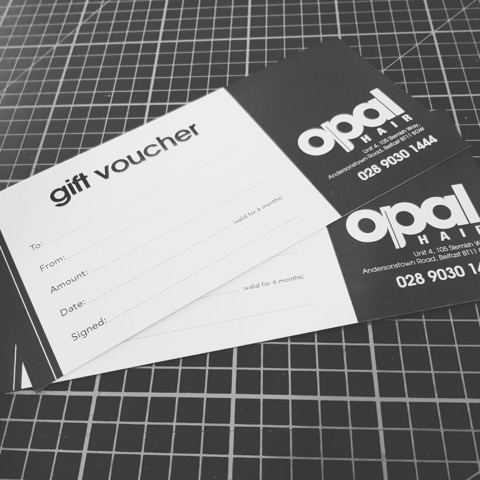 Gift Voucher Design For Opal