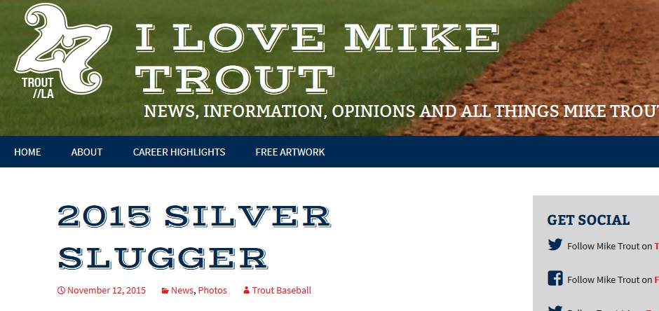 I Love Mike Trout
