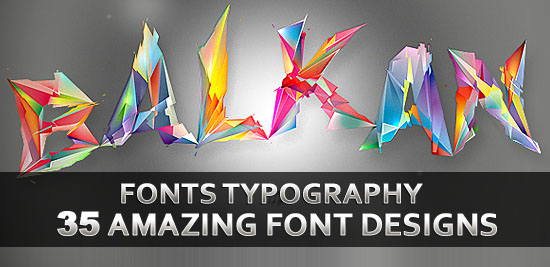 Post image of 35 Amazing Fonts Typography Designs for Design Inspiration