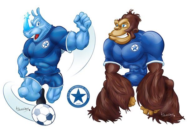 Cartooning Mascot