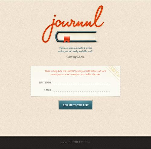 Journnl Coming Soon Page Design
