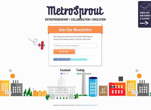 Metro Sprout Coming Soon Page Design
