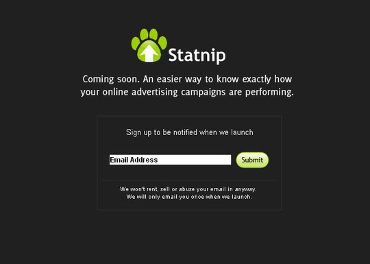 Statnip Coming Soon Page Design