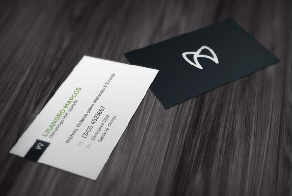 Minimal busines card design