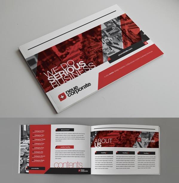 Corporate Brochure Designs 25 Inspiring Examples Design