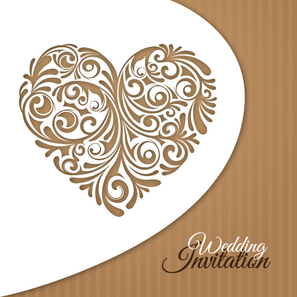 Wedding Invitation Card Vector Graphic