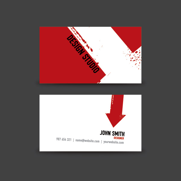 Business Card Design Vector Graphic