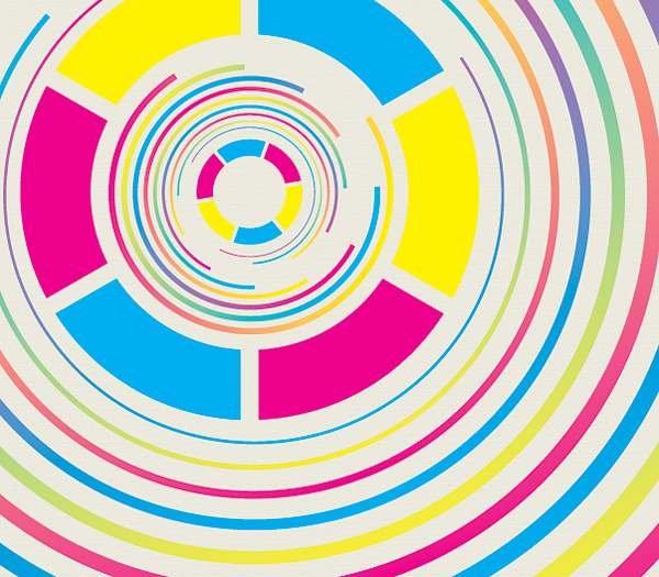 Printed Circles Vector Graphic
