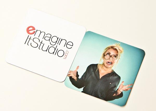 Mini Square Business Cards Design