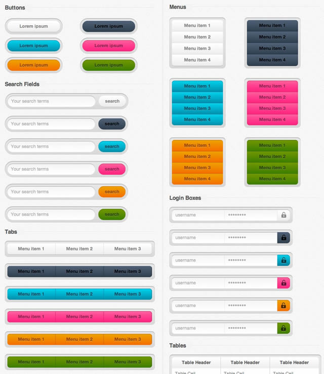 Free UI Kits For Web and Graphic Designers 25