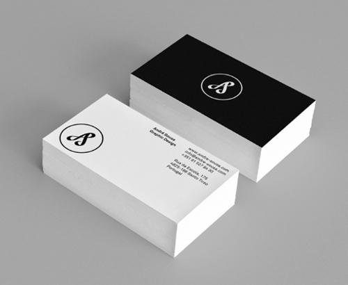 Black And White Business Cards Design 50 Inspiring