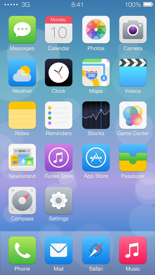 IOS7 Redesign Concepts Inspiration Graphic Design Junction