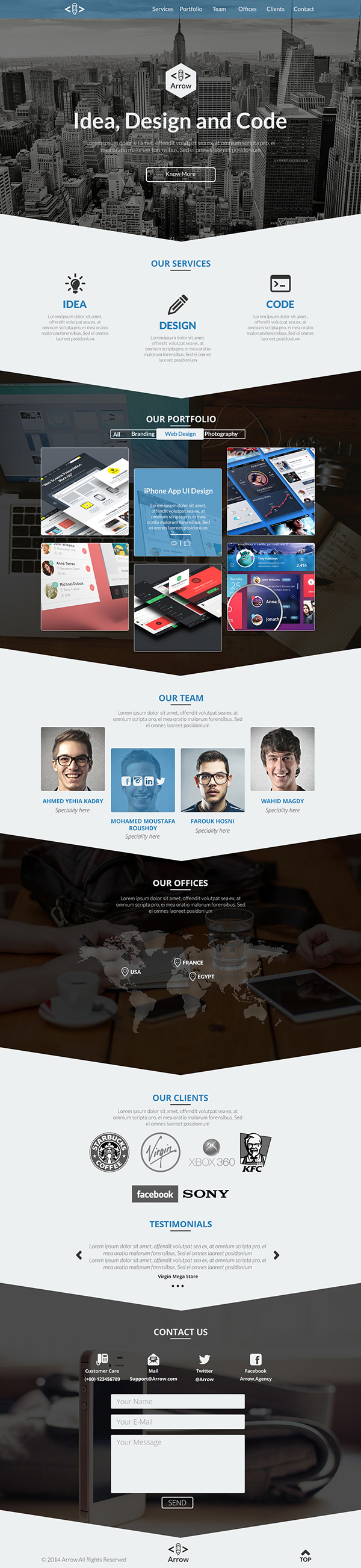 PSD Templates 20 One Page Free Web Templates  Freebies  Graphic Design Junction