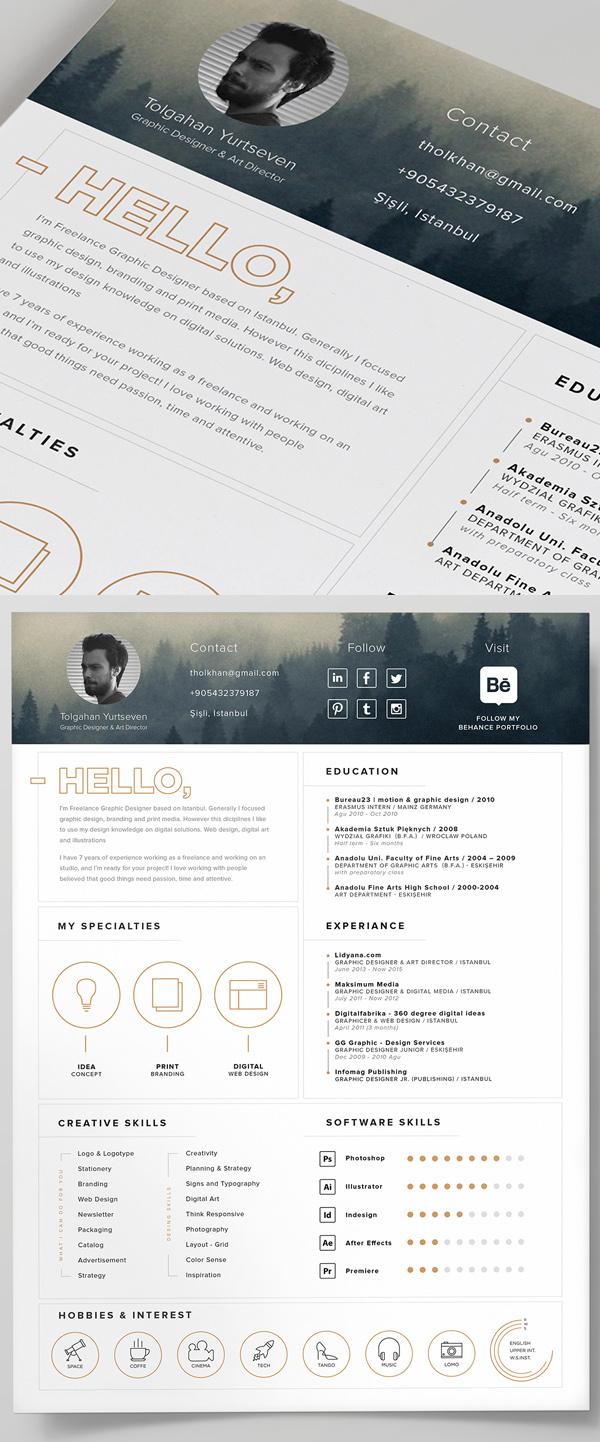free resume template download modern
