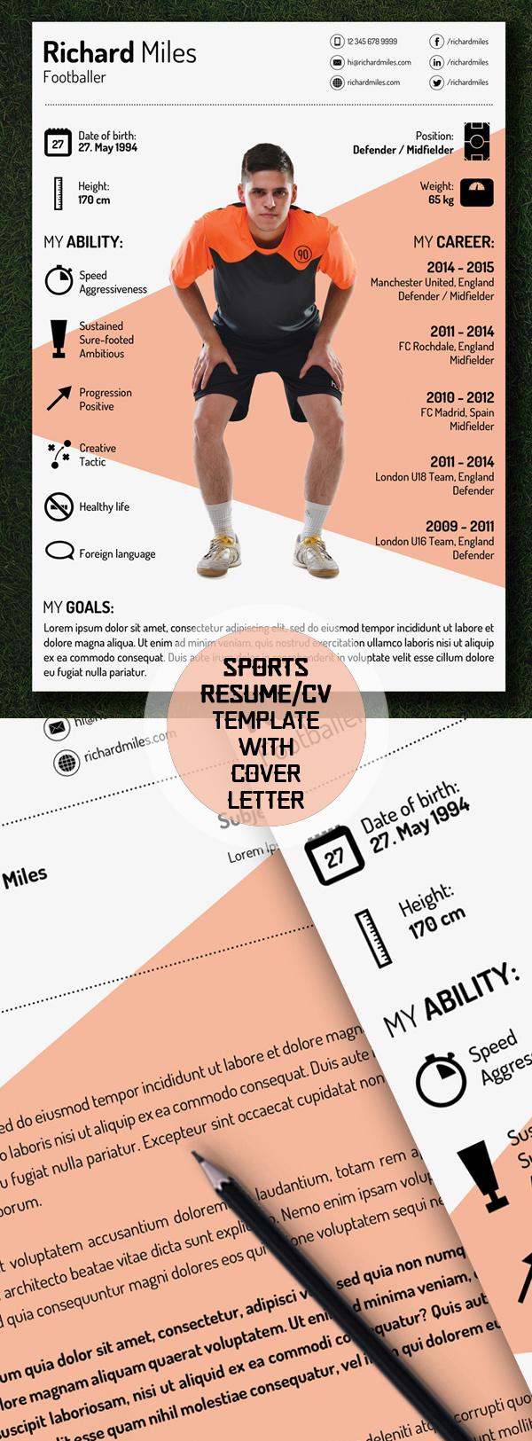 template cv sport