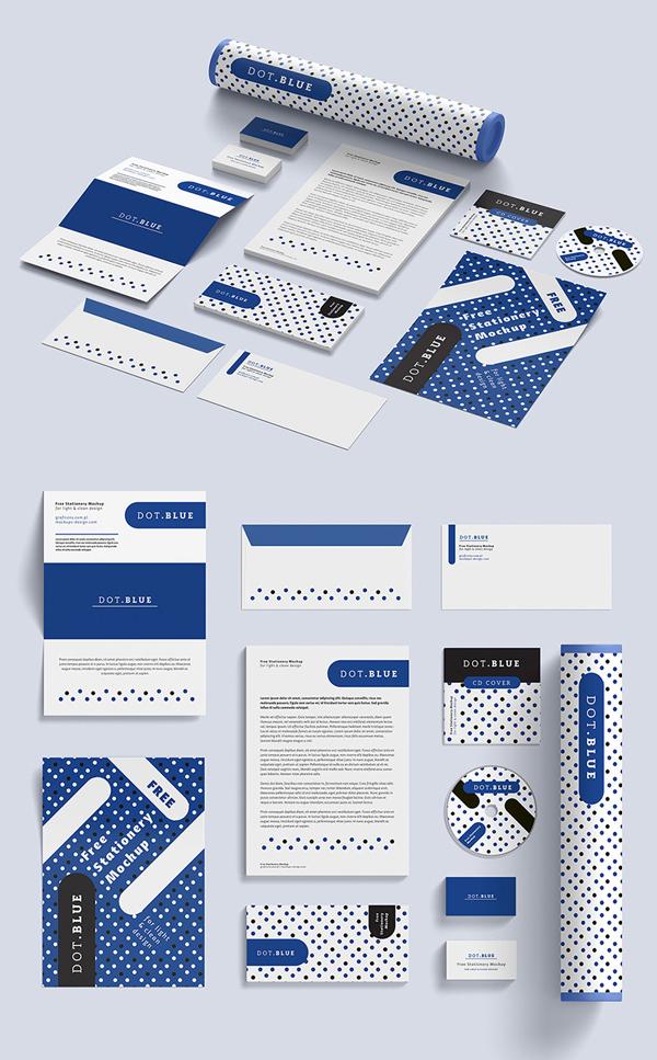 50 Free Branding Identity & Stationery PSD Mockups
