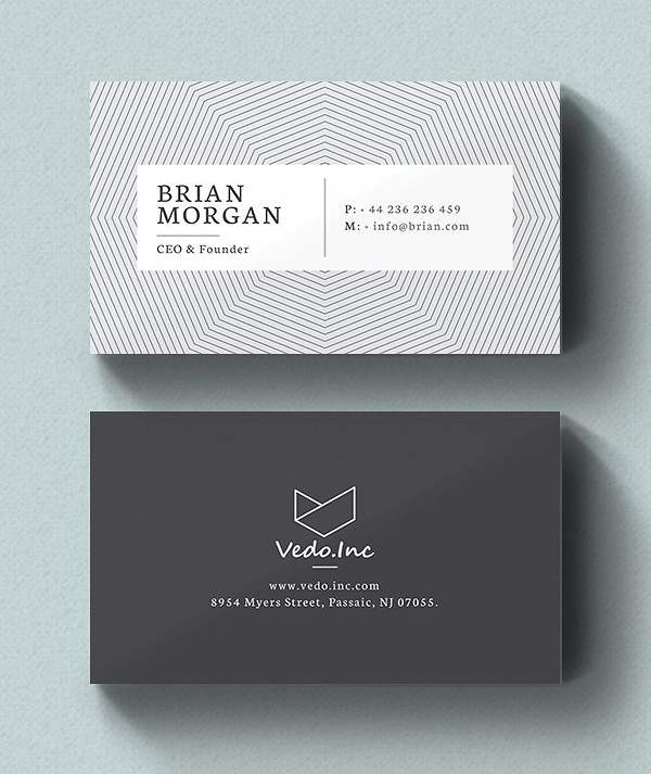 25 New Modern Business Card Templates Print Ready Design  Design  Graphic Design Junction