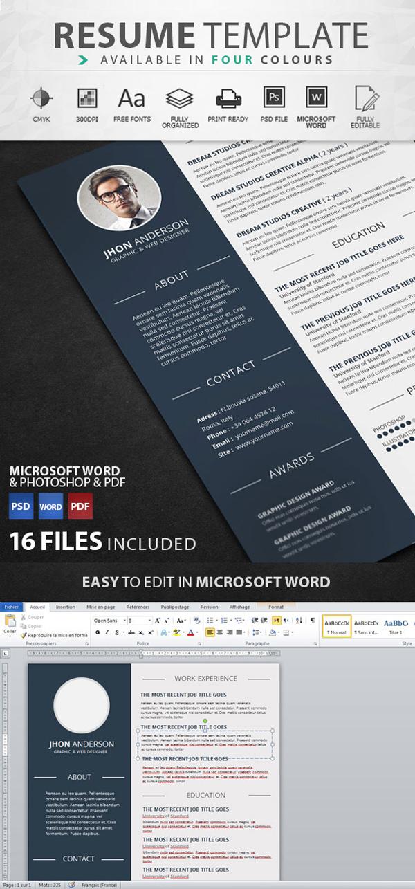 graphic designer resume templates