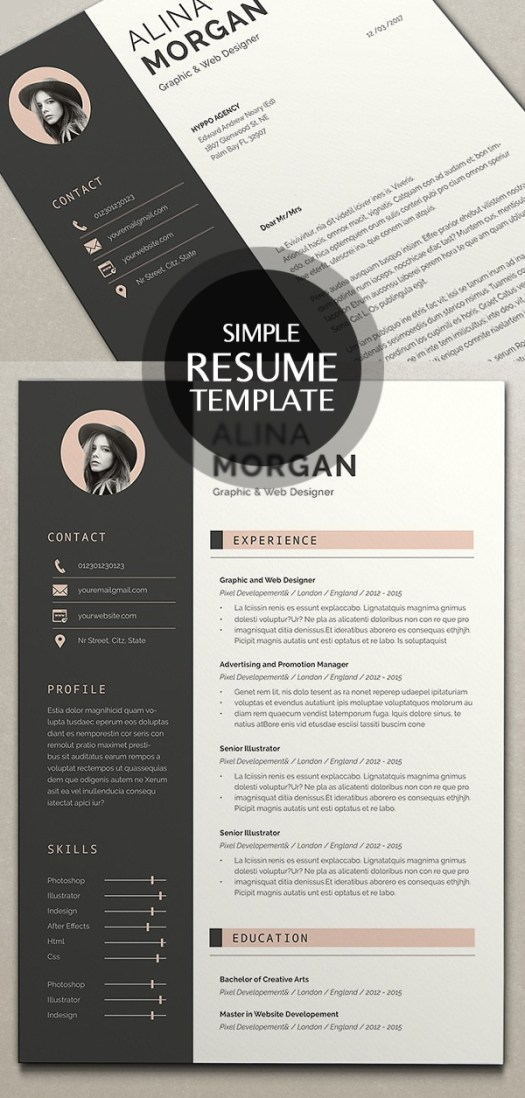 18 new clean cv resume templates with cover letter