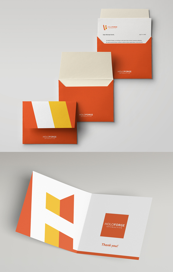 Branding: HOLOFORGE - Business Card