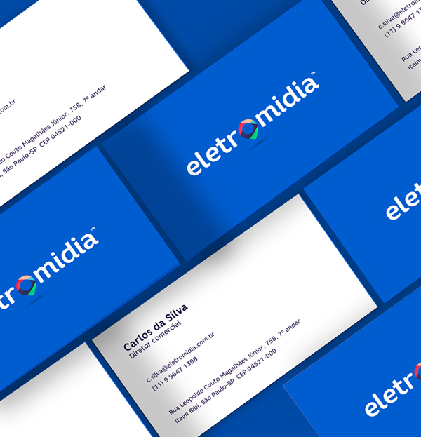 Branding: Eletromidia - Business Card