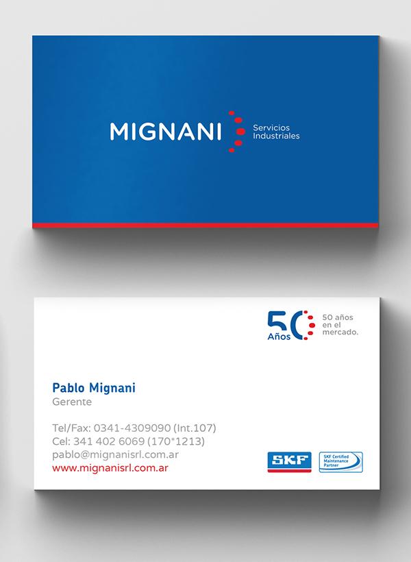 Branding: MIGNANI S.R.L. - Business Card