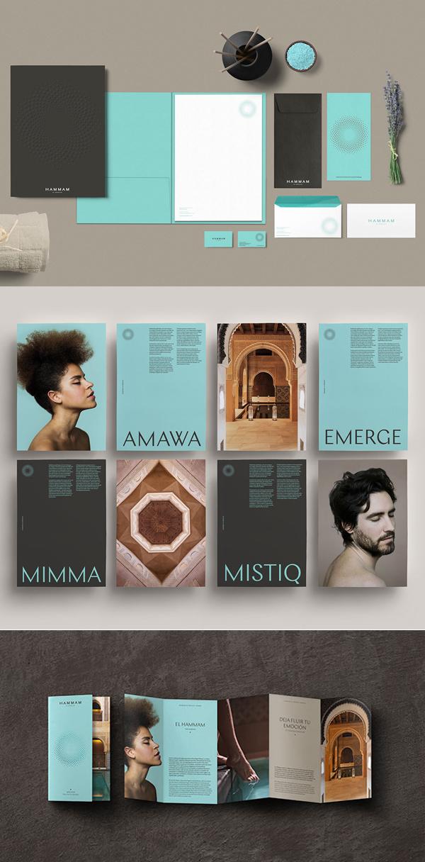 Branding: HAMMAM AL ÁNDALUS - Stationary Items