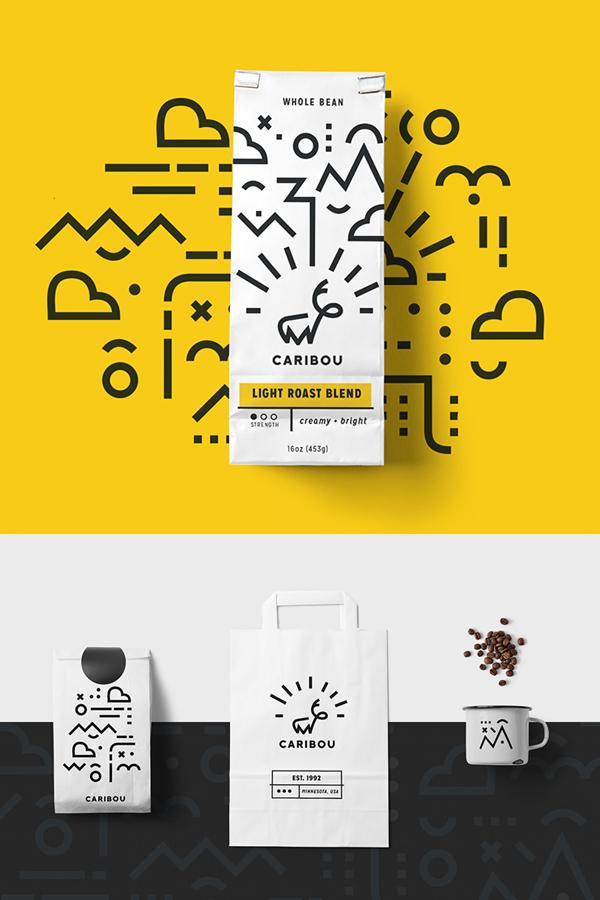 Branding: Caribou Coffee - Stationary Items