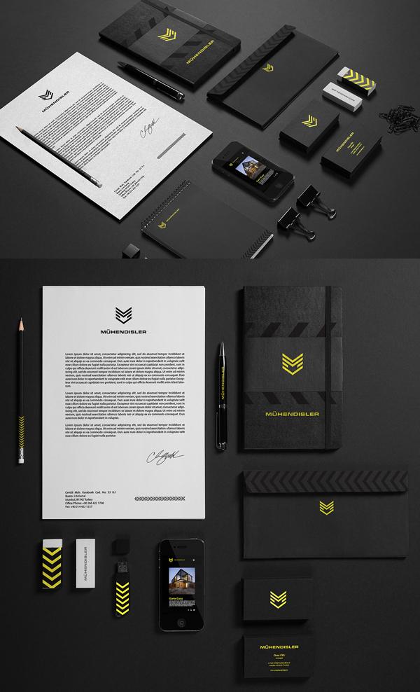 Branding: Muhendisler - Stationary Items