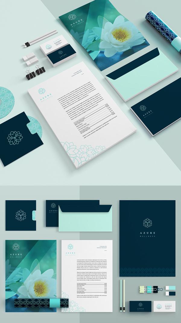 Branding: Azure - Stationary Items