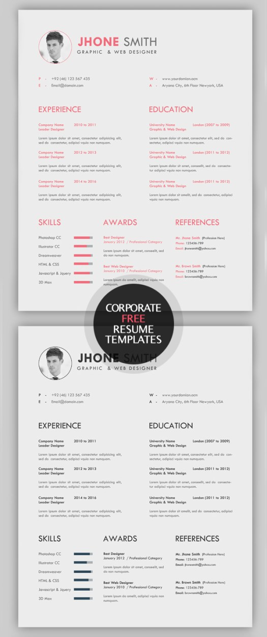 beautiful creative free resume templates cleanly organized and labeled all resume templates are easy to customized to meet all you needs available in - Cool Free Resume Templates