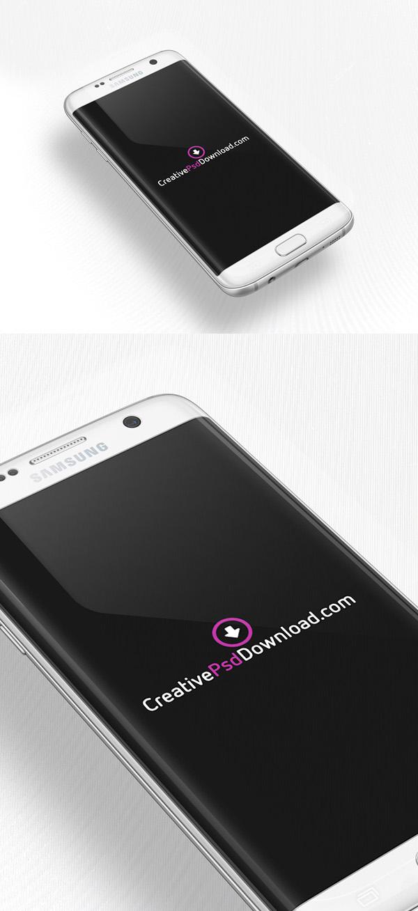 Libre Samsung Galaxy S7 PSD Maqueta