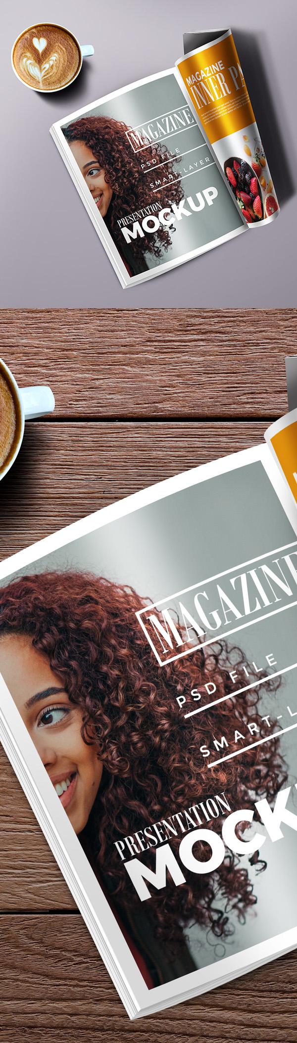 Libre de alta resolución de la revista maqueta PSD